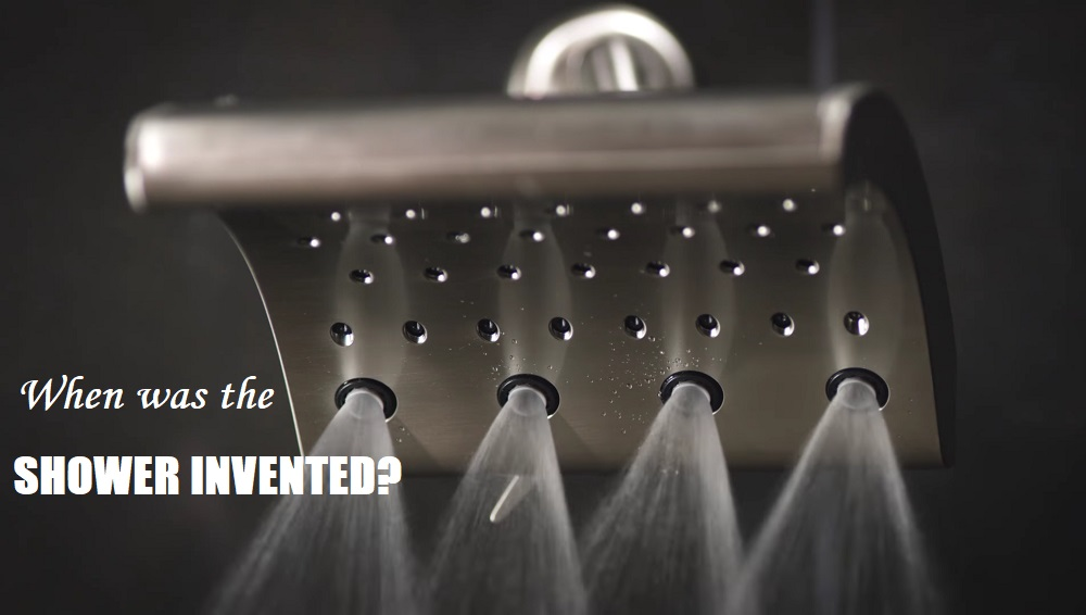 When was the shower invented?